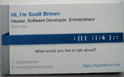 My Business Card Yup Blurry